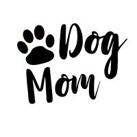 Dog Mom mit Pfote in schwarz als Geschenk
