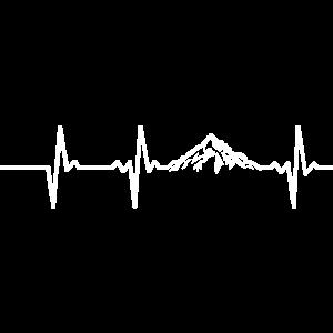 Herzschlag Pulsschlag Natur Berge Wandern Geschenk