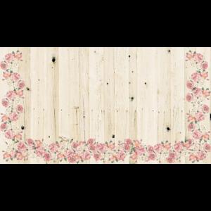Blümchen auf Holz