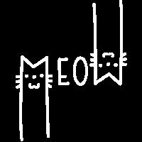 MEOW Lustiges Lettering Katzen Design Geschenk