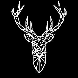 Hirschkopf im Triangel-Design (weiss)