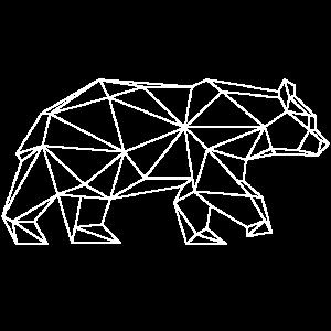 Grizzly-Bär imTriangel-Design (weiß)
