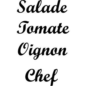 Salade Tomate Oignon Chef