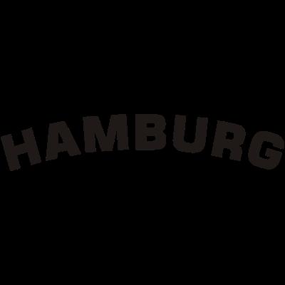 Hamburg - Schriftzug Hamburg. Das Motiv für echte Hamburger! - verein,fußball,Norden,Hamburg,Fußballverein,Fuballfan,Fanshirt,Fan