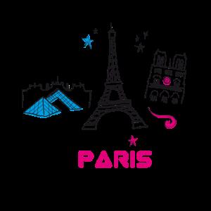 paris scribble tourist love city france girl sight