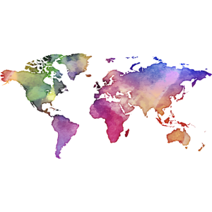 Map of the World - Watercolor Look