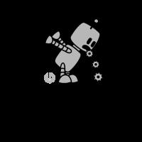 Robo Kotz - Lustiges Roboter Design Geschenk