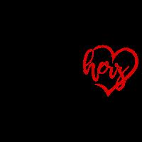 Bruderherz mit Herz in rot schwarz