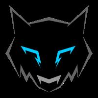 Dunkler Wolf Logo Abzeichen