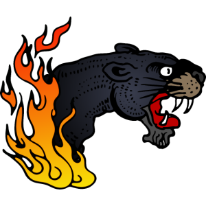 flammende Katze Tattoo