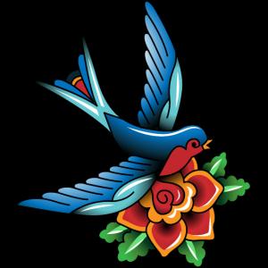 Blume Schwalbe Tattoo