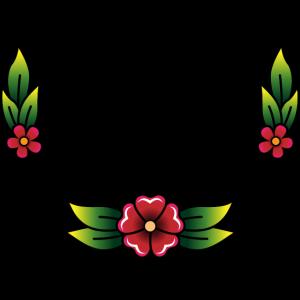 Blumentätowierung