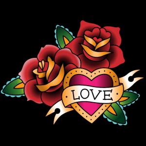 Blume Herz Tattoo