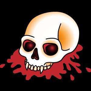 Schädel Blut Tattoo