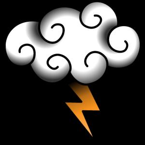 Blitz-Wolkentattoo