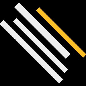 Matter gestreiftes Weiß / Gelb / Schwarz