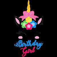 Einhorn Geburtstagsparty für Mädchen.