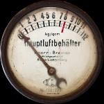 """Manometer """"Hauptluftbehälter"""" Knorr Bremse"""