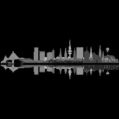 Hamburg 03 - Hamburg Skyline -  auf verschiedenen Produkten erhältlich. Verändern Sie die Größe oder Position des Motives nach ihren Wünschen. Wählen Sie Größe und Farbe Ihres Produktes. - urban,stadtbild,stadt,skyline,silhuette,illustration,hamburgerin,gebäude,design,city,architektur,altona,Wandsbek,Stadtshirt,St Pauli,Silhouette,Harburg,Hansestadt,Hamburger,Hamburg,Geschenk,Eppendorf,Elbe,Eimsbüttel,Barmbek