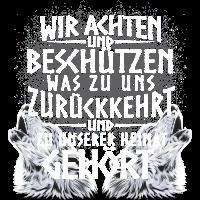 Heimat Germanen Deutschland Natur Wölfe Geschenk