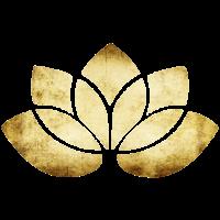 yoga lotus blume gold