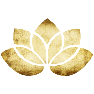 yoga lotus blume gold