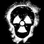 Atomkraft Totenkopf-Graffiti