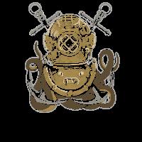Taucher Helm Tauchsport Kraken Geschenk