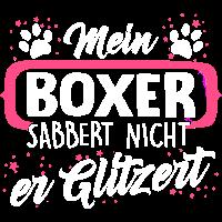 Boxer Hund Hunde Geschenk Glitzer