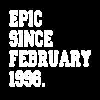 Februar 1996 Geboren Geburtstag Original Geschenk