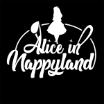 Alice in Nappyland TypographyWhite 1080