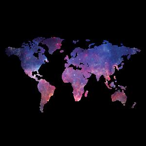 Welt Geschenk Kontinente Karte