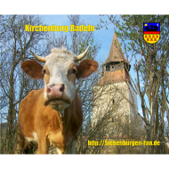 Motiv ~ Kirchenburg Radeln mit Kuh