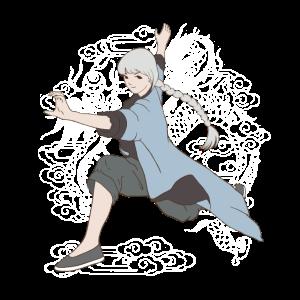 Tai Chi Kung-Fu-Mädchen