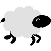 rennendes Schaf