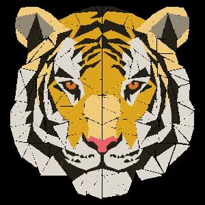 Tiger - Polygon Motiv - Geometrisch - Geschenk