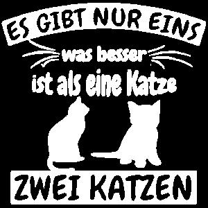 Katzen T-Shirt - Ich liebe Katzen.