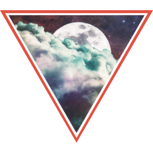 Space Moon Triangle