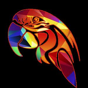 Papagei Geometric