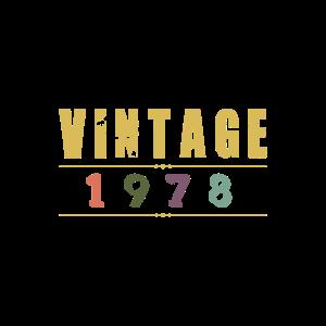 Vintage 1978 Classic Birthday T Shirt Gift