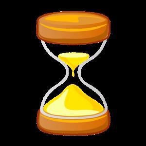 Die Zeit läuft Sanduhr Geschenk Idee