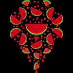 05 Melone Scheiben Wassermelone Saft Spritzer