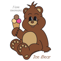 Ice Bear - I love icecream!