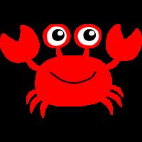 Rote kleine Krabbe