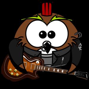 Coole Rocker Eule Illustration