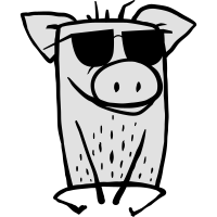Kühles Schwein