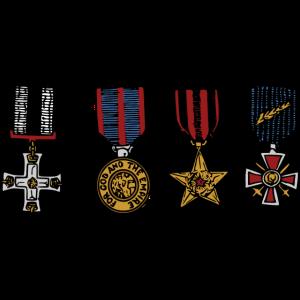 Orden Medaillen Eisernes Kreuz Abzeichen Lametta