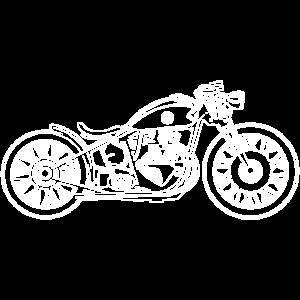 Chopper / Bobber Motorrad 09_weiß