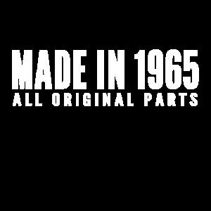 Made in 1965 All Original Parts Geschenk Shirt