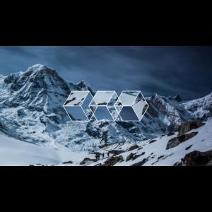3 squares geometric snowy